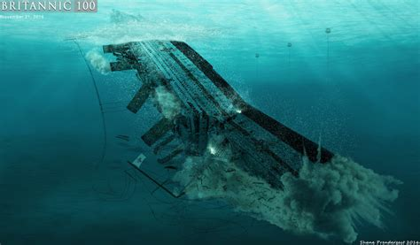 the sinking of the britannic throes of the britannic by lusitania25 on deviantart
