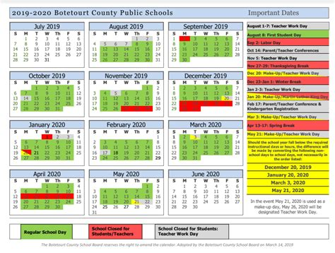 bcps calendar