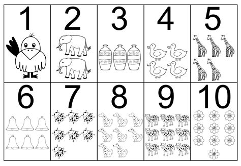 color numbers free printable number coloring pages for