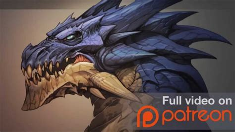 Cool Picture Of Dragons Painting A Dragon Head Patreon Trailer Youtube