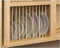 woodworkercom wooden plate rack kits add convenience  upper cabinets plate rack kit  maple