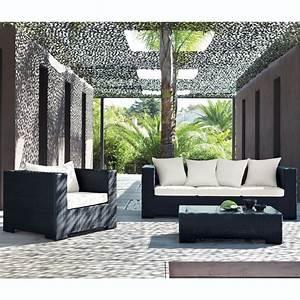 Poltrona Nera Da Giardino In Resina Intrecciata Miami