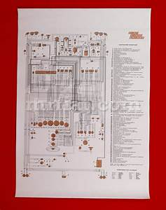 Fiat Dino 2400 Coupe Wiring Diagram 59x84 Cm New