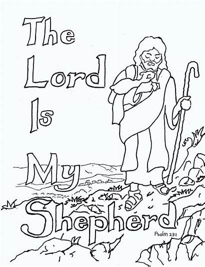 Psalm Coloring Pages Bible Lord Jesus Sunday