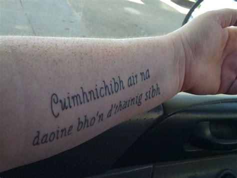 scottish gaelic quotes for tattoos