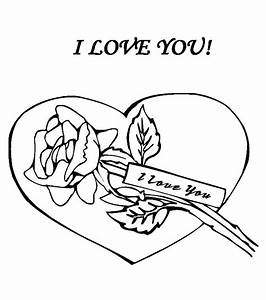 I Love You Drawings Hearts And Roses Coloring Pages ...