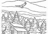 Coloring Mountain Education Adult Snowy Cool Mountains Adults Colouring Printables sketch template