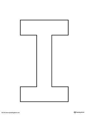 uppercase letter i template printable alphabet 934 | 969efd7461c52330097c48f7da839b2a