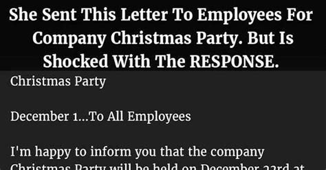 letter  employees   company christmas