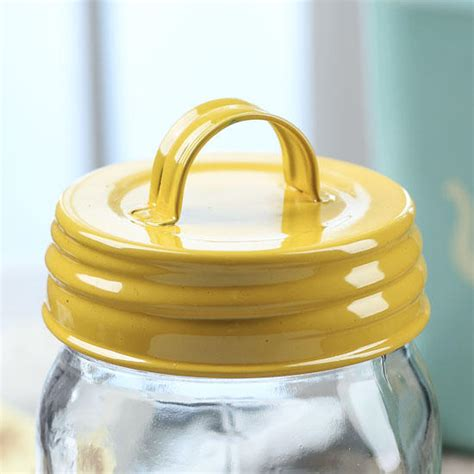 yellow mason jar lid  handle jars lids  pumps