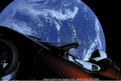 Tesla Space Roadster Floating Through There Into