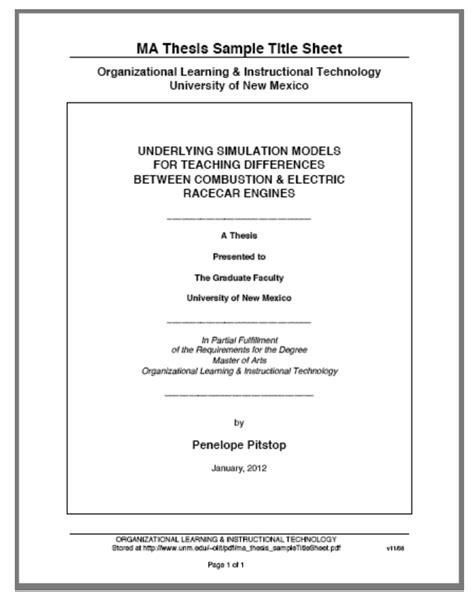 dissertation template dissertation research prospectus