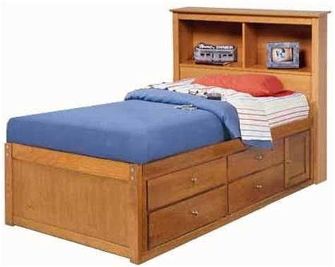 childrens twin bookcase captains bed project plans