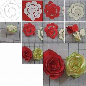 How To Make simple Paper Roses flowers step by step DIY ...