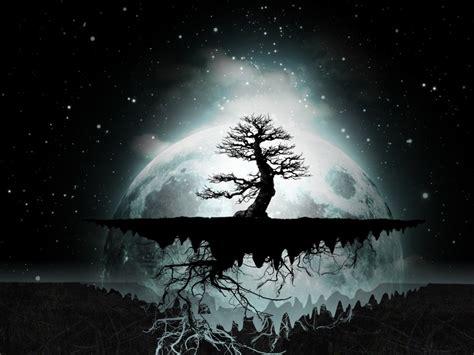 moon abstract artwork dark digital art wallpaper
