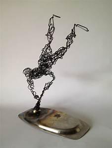 Wire Sculpture blown away 5 - Frank Marino Baker - Drip