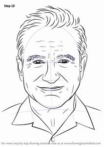 learn how to draw robin williams step by