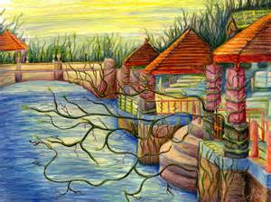 Colored Pencil Landscape Drawings