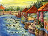 Color Pencil Landscape Drawings