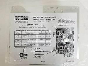 Transgo 4l60e New Updated Valve Body Seperator Plate 1996