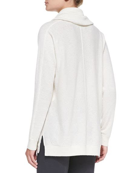 white cowl neck sweater vince seamed cowl neck sweater winter white