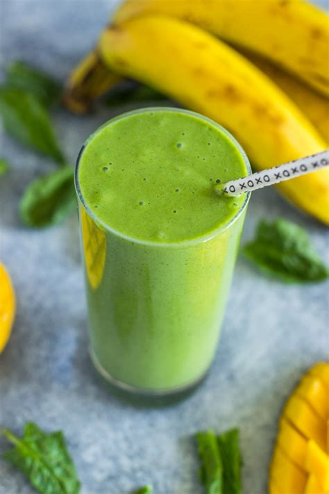 ingredient spinach mango banana green smoothie gimme