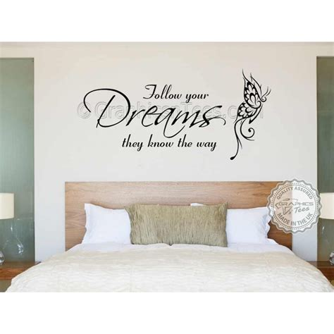 black and gold bedroom decor follow your dreams inspirational quote family wall