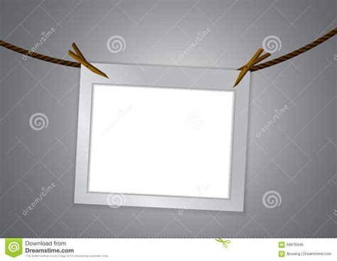 cadre et pince 224 linge vides sur la corde illustration de