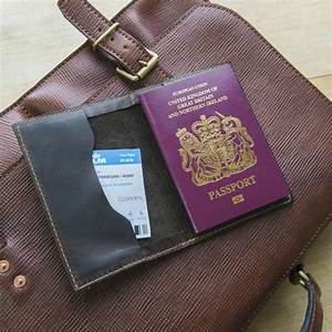 Personalised, Leather, Passport, Holder, By, Tanner, Bates