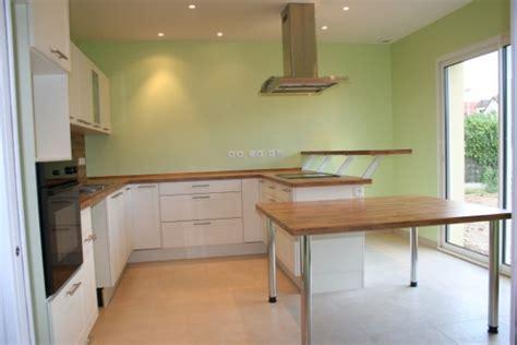 cuisine mur vert