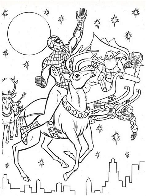marvel super heroes christmas coloring book page flickr