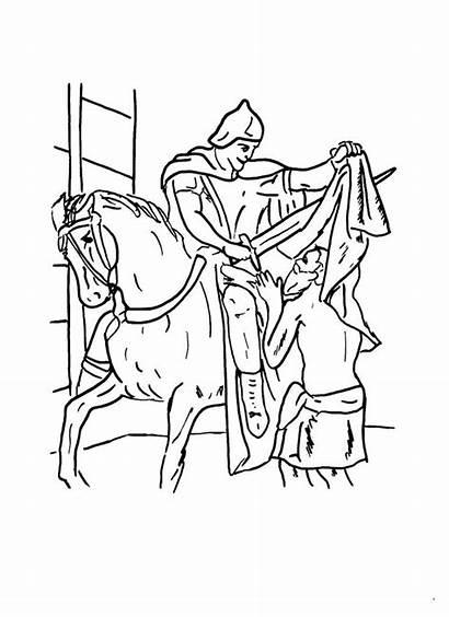 Martin Coloring St Clipart Pages Saint Tours