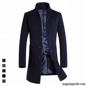 Veste En Laine Homme : veste homme grande marque de laine longue la laine manteau ~ Carolinahurricanesstore.com Idées de Décoration
