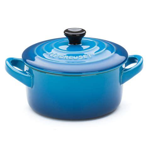 le creuset light blue casserole dish le creuset marseille blue stoneware mini casserole dish