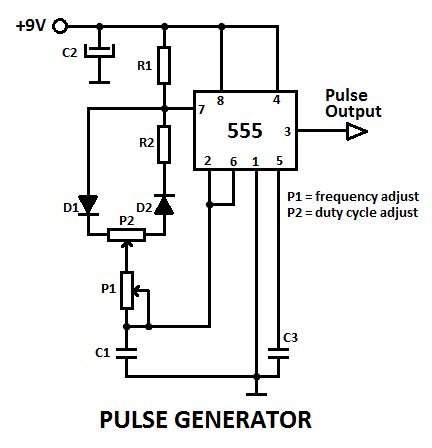 555 variable pulse generator electronics generators electronics projects and