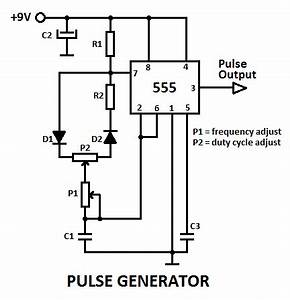 555 variable pulse generator electronics pinterest With 555 stepper pulse generator electronic circuit diagram