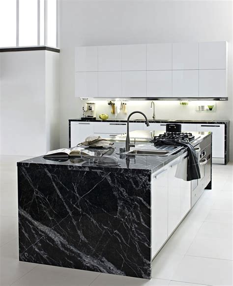 Fitted Kitchen With Island By Luca Meda  Interiorzine