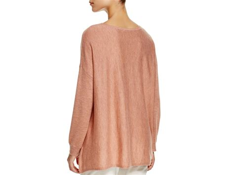 high low sweater eileen fisher high low sweater in lyst