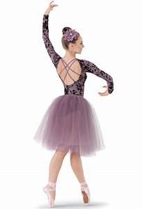 gorgeous long tutu pointe ballet costume leotard dress ...