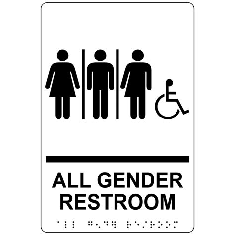 gender restroom sign rre blkonwht gender neutral