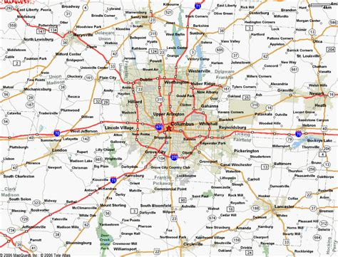 cool map  columbus ohio travelsmaps columbus ohio
