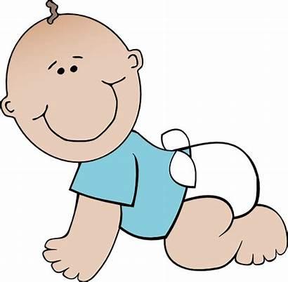 Boy Crawling Clip Clipart Cartoon Babies Shower