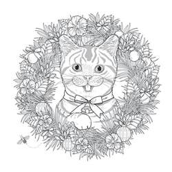 mandala cat by kchung mandalas coloring pages for adults justcolor