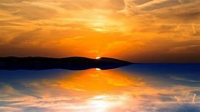 Sunset Orange Wallpapers Sun 1080 Mountain 4k