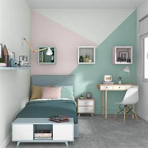 Peinture Mur Chambre : un trio de couleurs dans la chambre leroy merlin ~ Voncanada.com Idées de Décoration