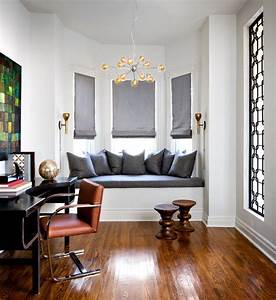 Toronto, Interior, Color, Schemes, Contemporary, Home, Office, With, Refurbished, Desk, And, Wood, Floor