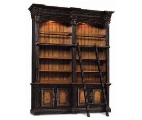 bookcase with ladder and rail double bookcase with ladder and rail