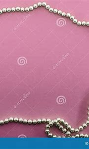 Pink Background With Pearl Necklaces Frame Stock Image ...