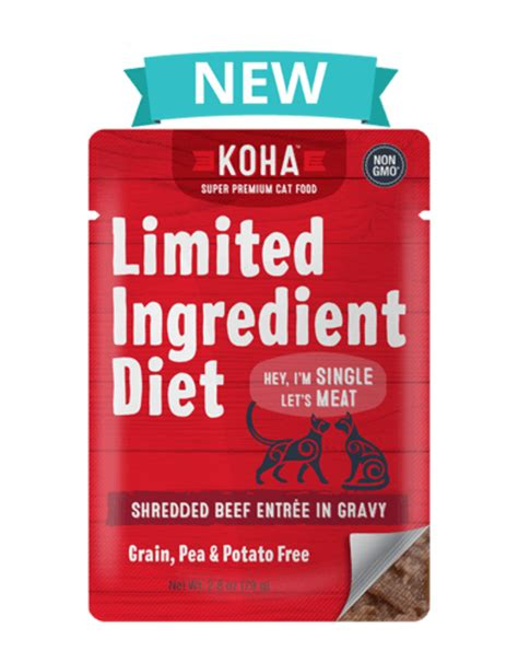 Koha Limited Ingredient Shredded Beef for Cats - Molly's Healthy Pet Food Market
