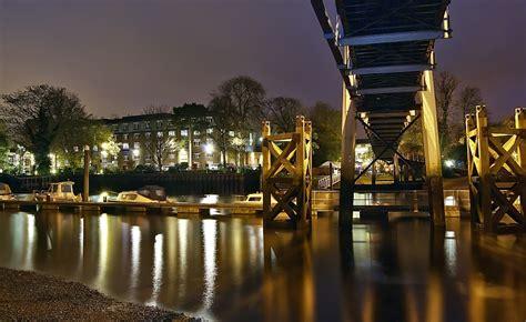 teddington lock footbridge view ii  photo  london